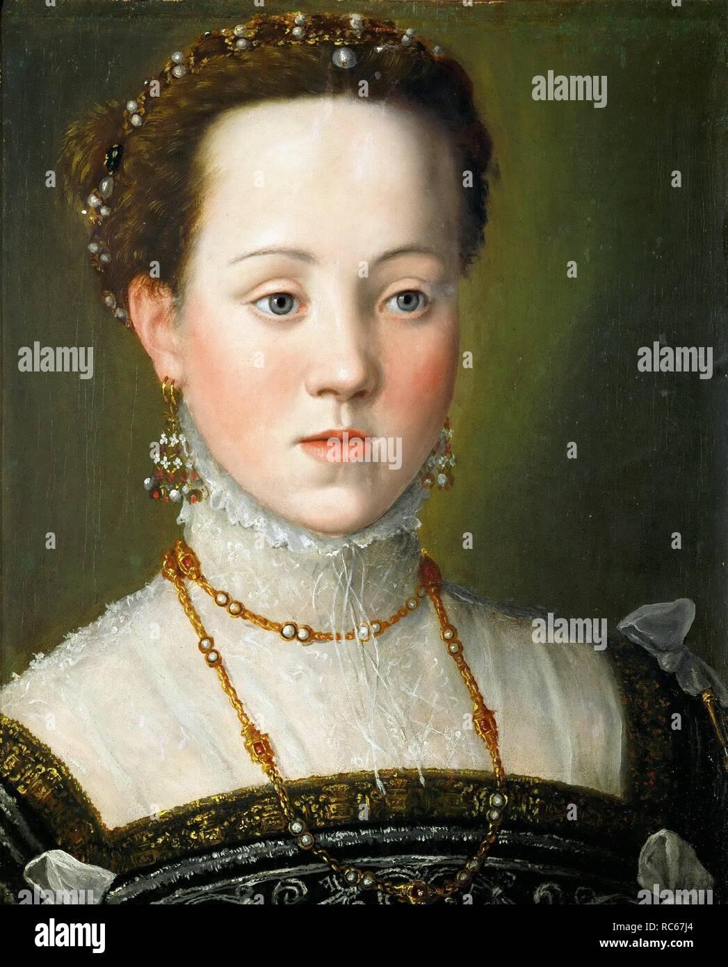 Anne D'autriche (1549-1580) : d'autriche, (1549-1580), L'archiduchesse, D'Autriche, (1549-1580),, Reine, D'Espagne., Musée, Château, D'Ambras,, Innsbruck., Auteur, Arcimboldo,, Giuseppe, Photo, Stock, Alamy