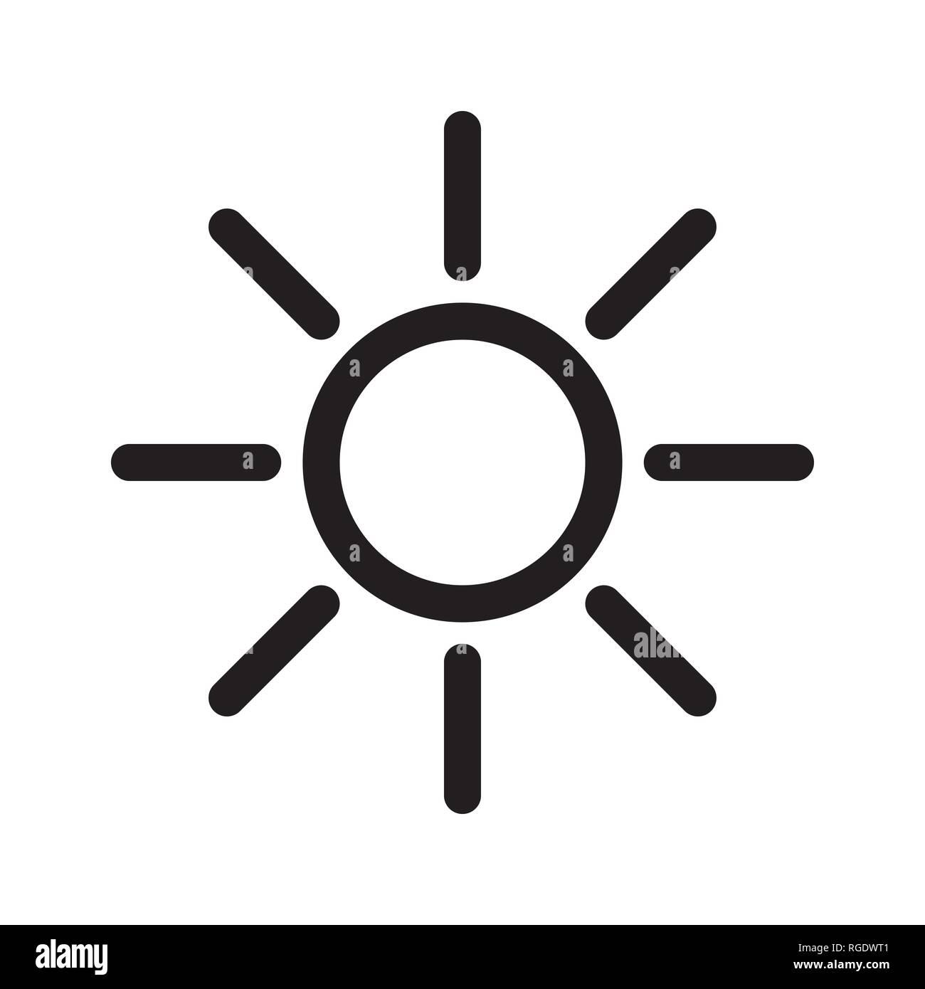 https www alamyimages fr l icone de soleil noir illustration vecteur et symbole image233874929 html