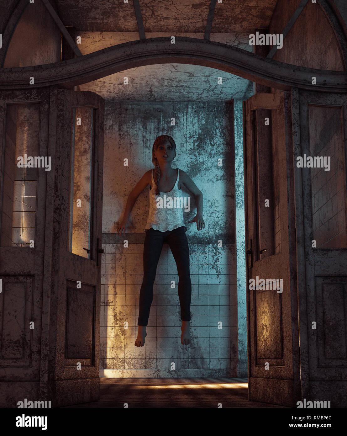 Vengeance Fille De La Nuit : vengeance, fille, Fille, Vengeance, Maison, Hantée,, Rendu, 3D,**, Scène, Peuvent, Avoir, Bruit, Photo, Stock, Alamy