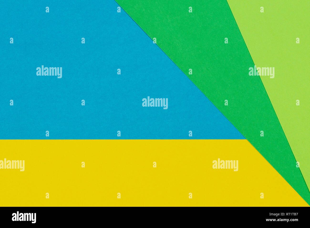 https www alamyimages fr television geometrique couleur bleu vert jaune laics papier fond image238527611 html
