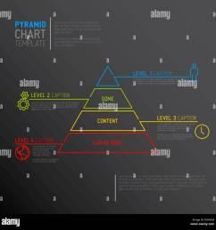 infographie diagramme vectoriel pyramide mod le avec des ic nes faites par ligne mince version sombre [ 1300 x 1298 Pixel ]