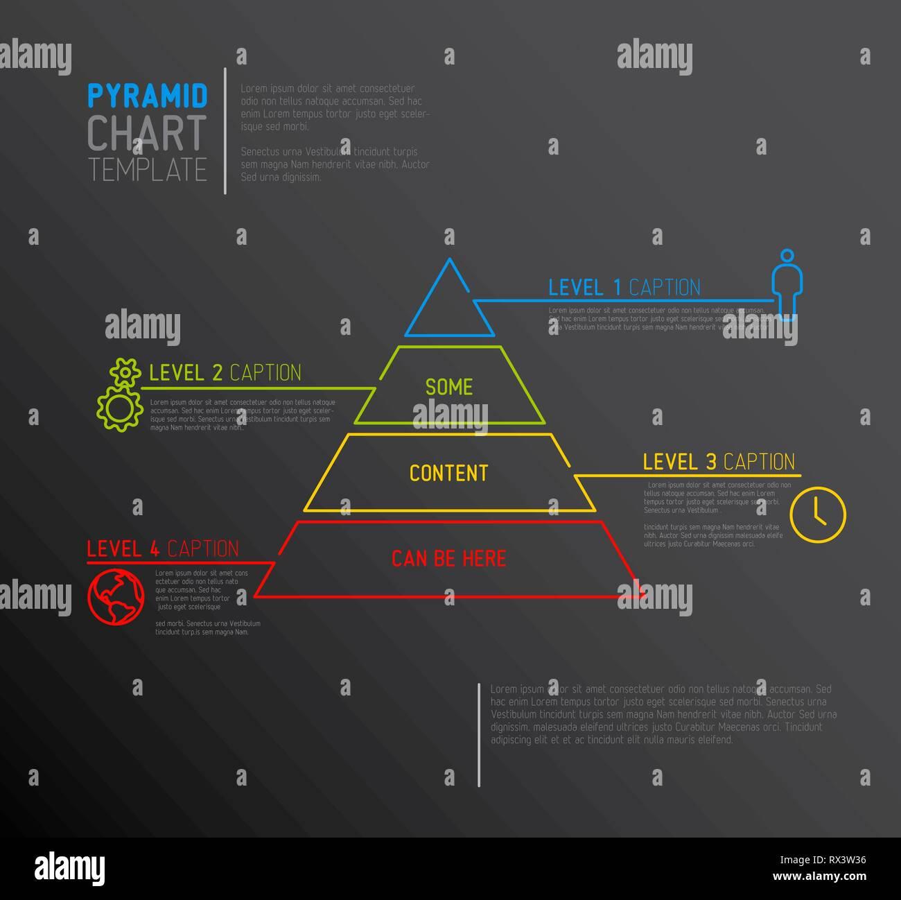 hight resolution of infographie diagramme vectoriel pyramide mod le avec des ic nes faites par ligne mince version sombre