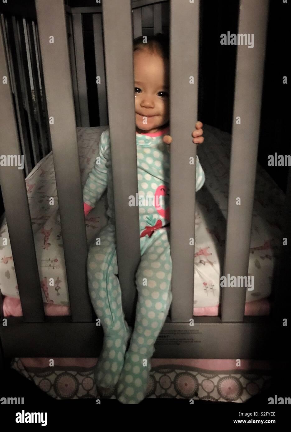 Bébé Ne Veut Pas Dormir : bébé, dormir, Bébé, Dormir, Berceau, Photo, Stock, Alamy