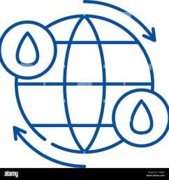 l ic ne de la ligne du cycle de l eau concept cycle de [ 1300 x 1352 Pixel ]