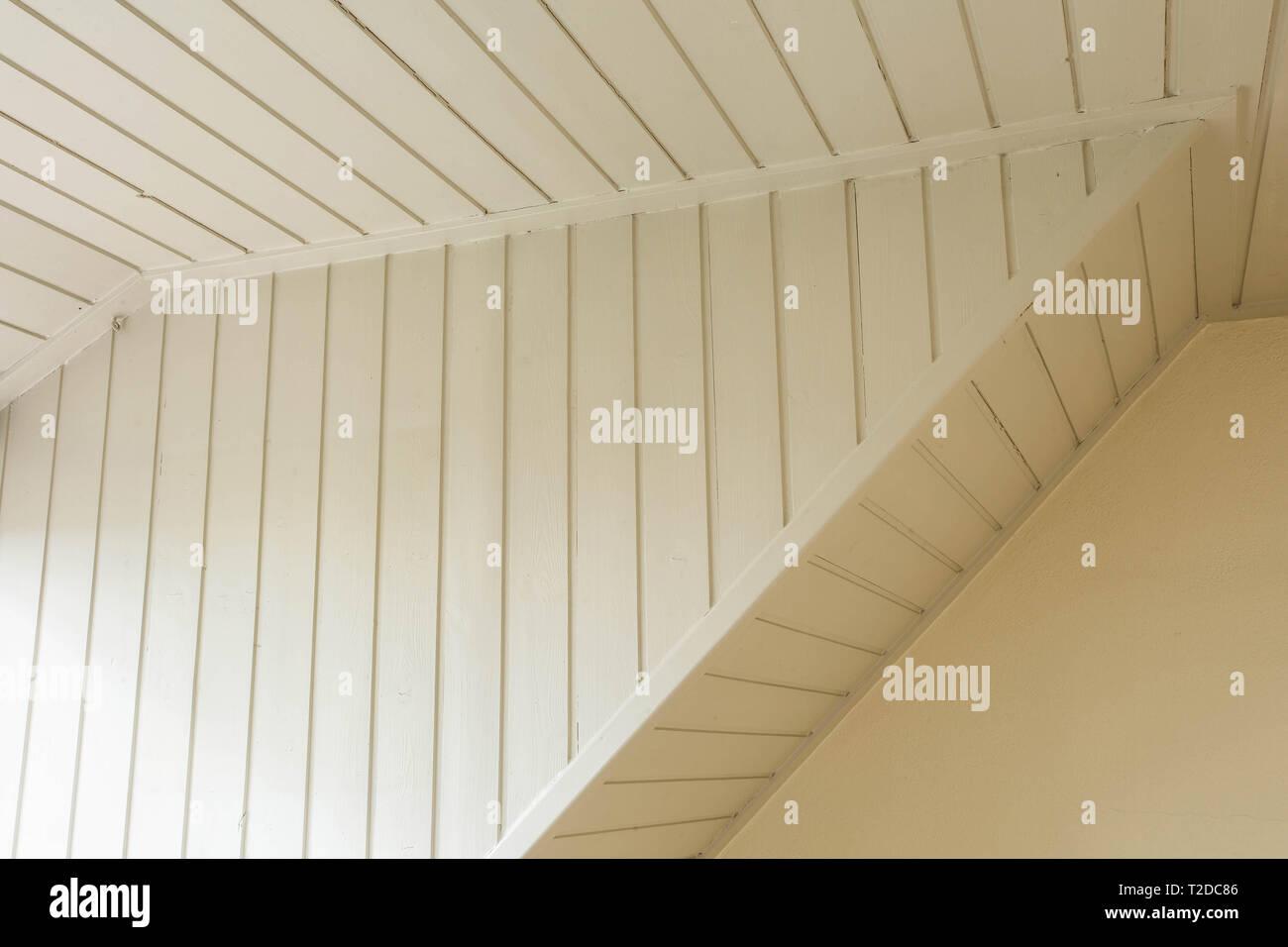 Le Lattis Et Platre Ancien Blanc Plafond Bois Vintage Design Close Up Photo Stock Alamy