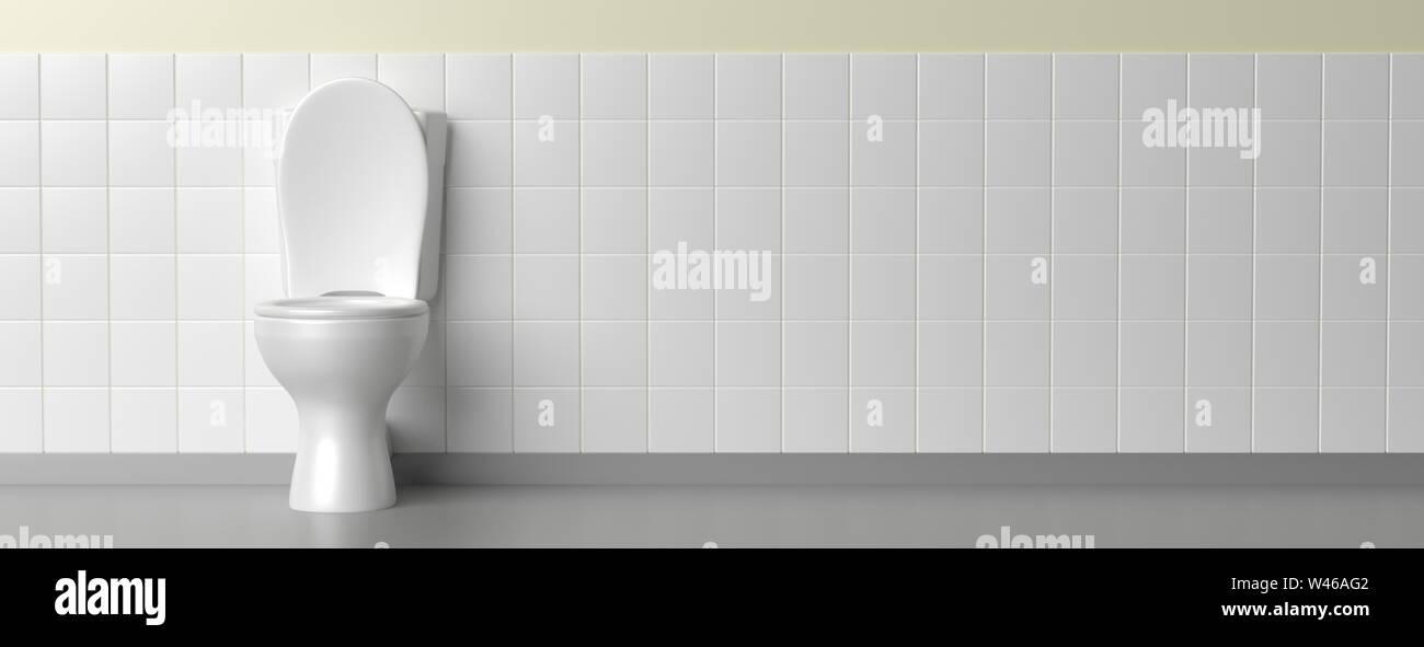 https www alamyimages fr cuvette wc couleur blanc sur blanc carrelage au sol et mur banniere copiez l espace 3d illustration image260754146 html