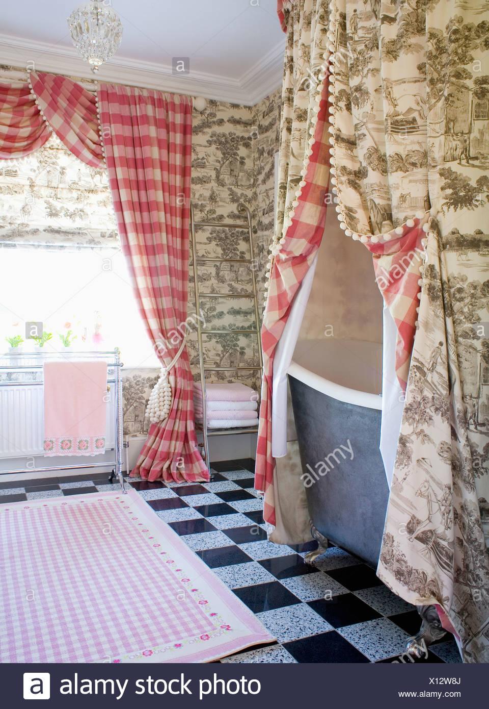 Rideau Salle De Bain Rouge | Extraordinaire Rideaux Pour Salle Bain ...