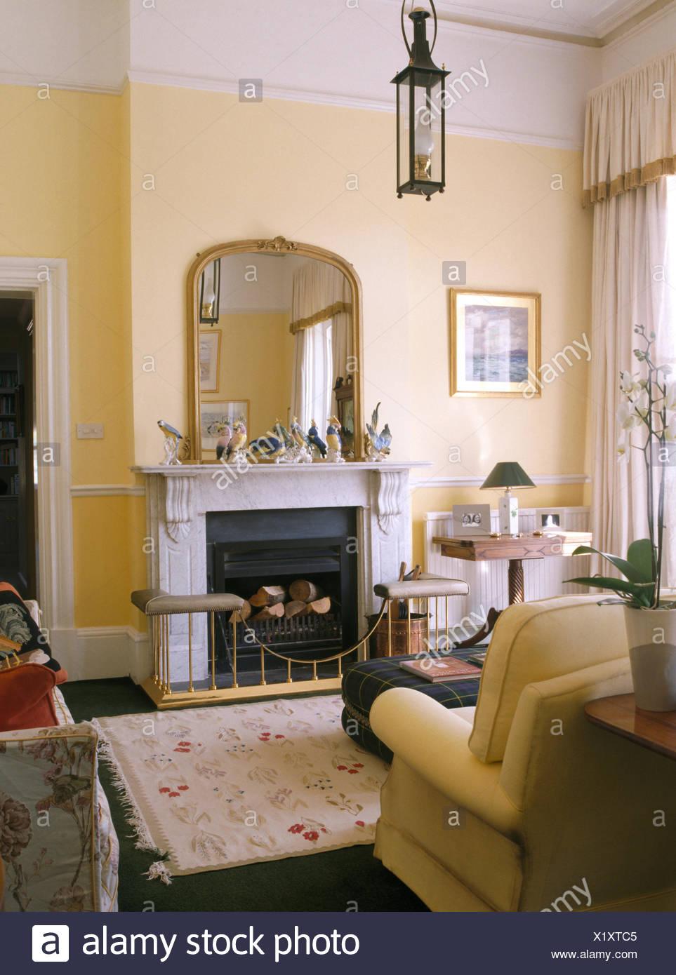 miroir cheminee bois inspiration milt