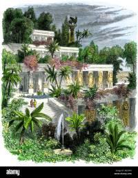 Giardini pensili di Babilonia antica Foto & Immagine Stock ...