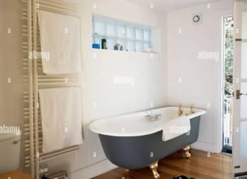 Bagno bianco nero e legno mobile bagno in acrilico con effetto