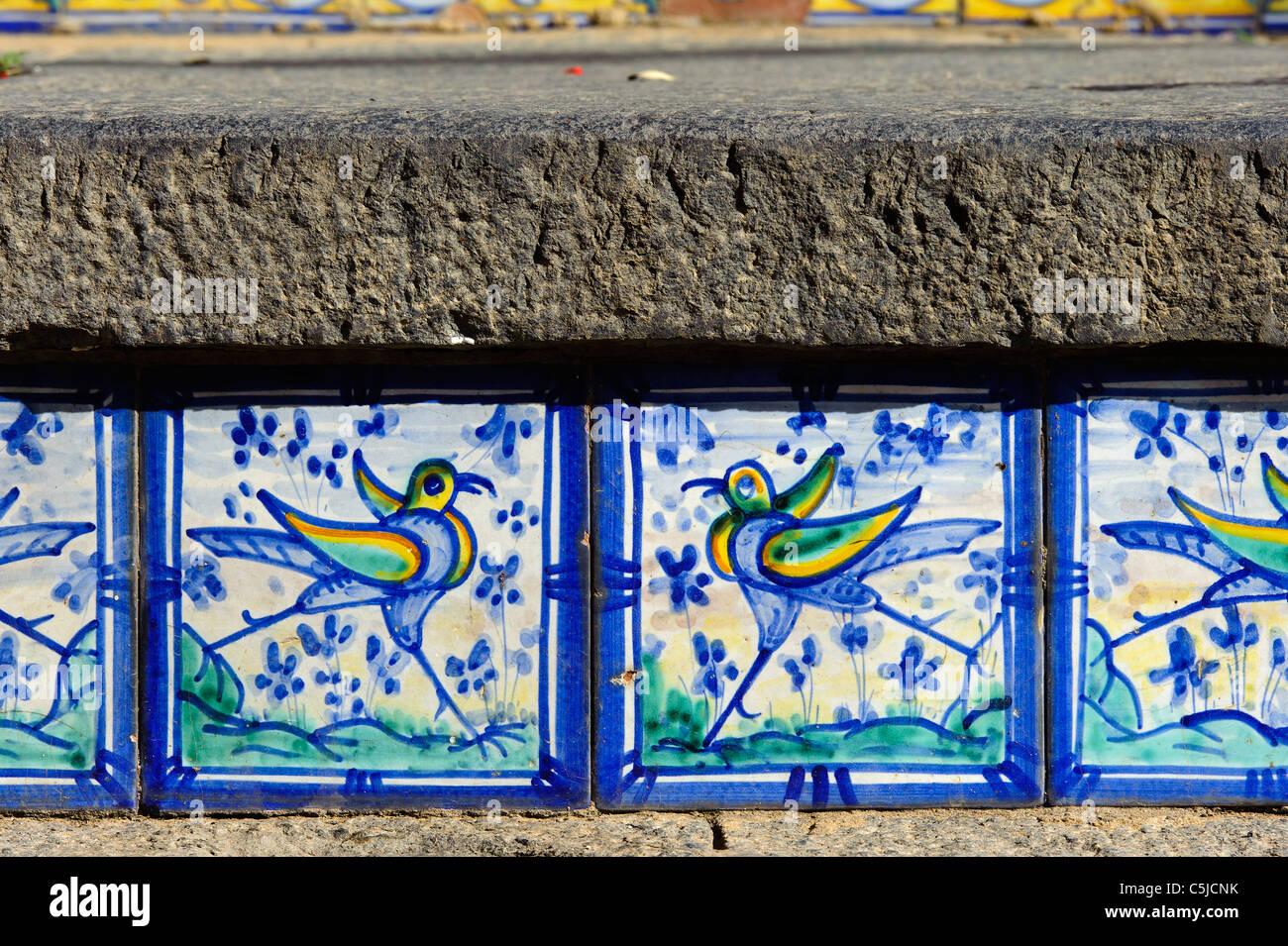 Scale con piastrelle di Caltagirone Sicilia Italia Foto  Immagine Stock 37899167  Alamy