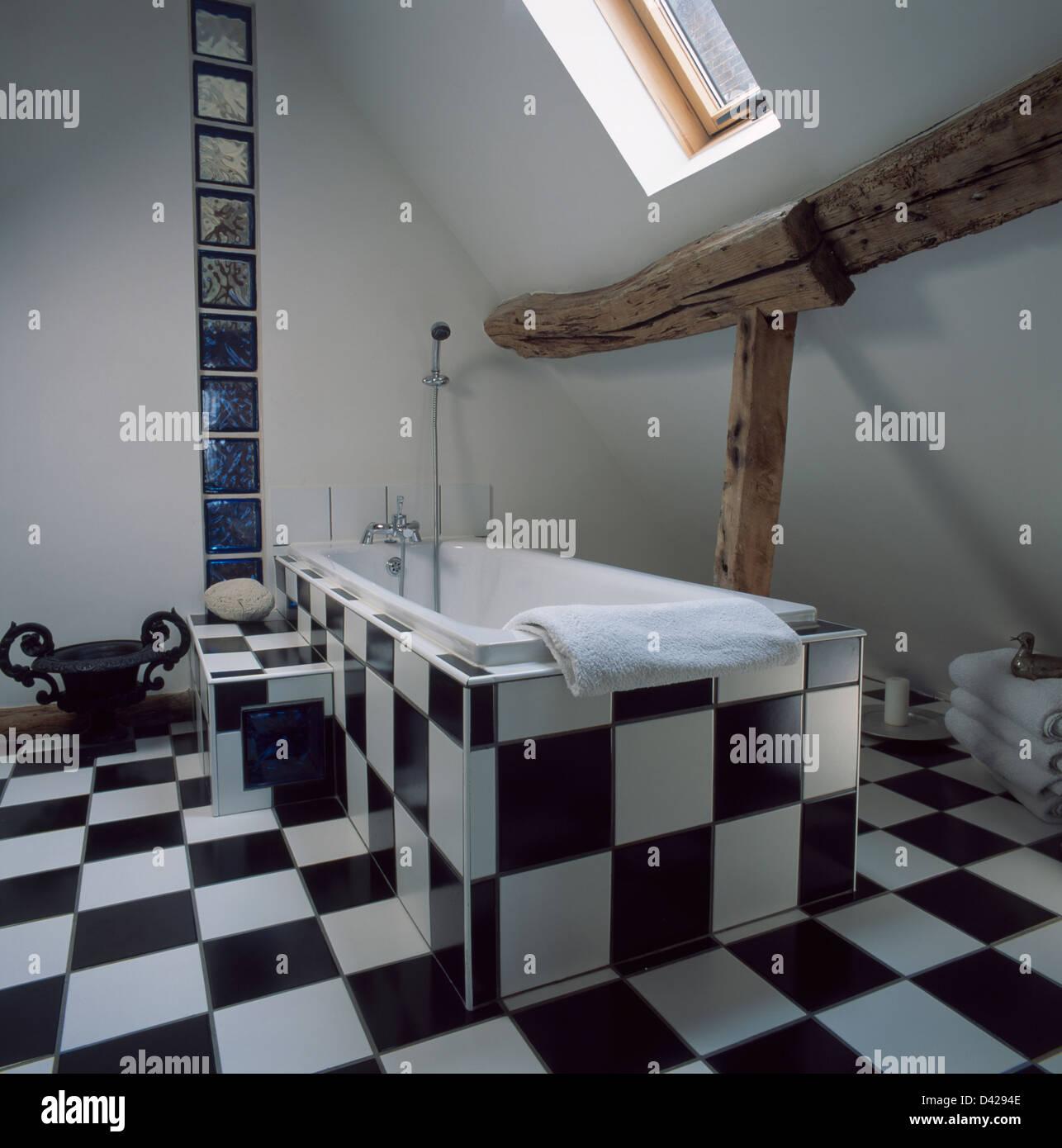 Piastrelle per bagno bianco nero bagno mosaico nero good