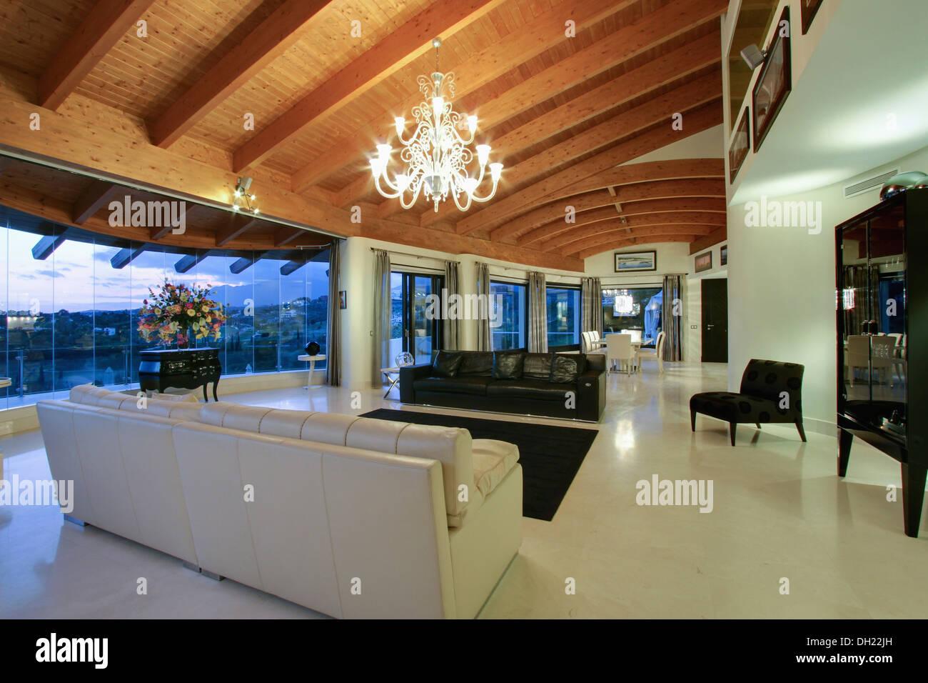 Lampadari Per Soffitti Con Travi In Legno : Illuminazione soggiorno travi a vista beautiful illuminazione