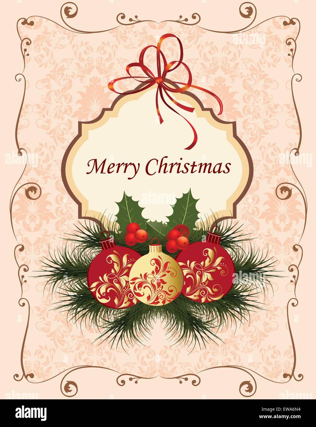 Scarica subito l'illustrazione vettoriale lettera a babbo natale vintage cartolina. Cartolina Di Natale Vintage Immagini E Fotos Stock Alamy