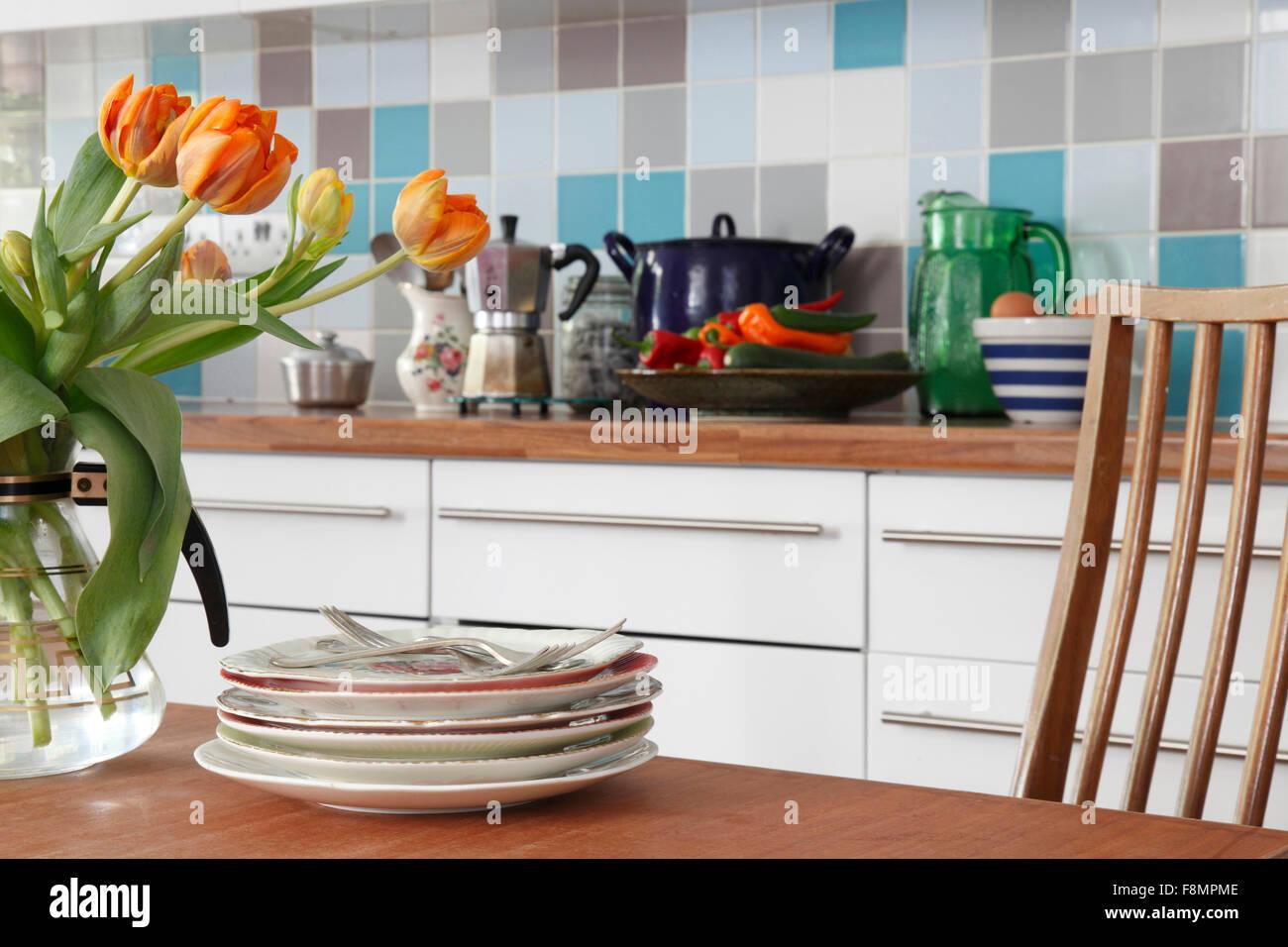 Piastrelle Con Tulipani Rivestimento in ceramica per