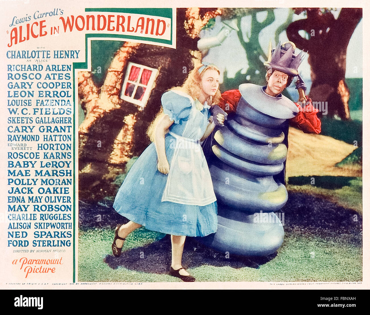 Alice Con La Regina Rossa Dalla Lobby Card La Promozione Di