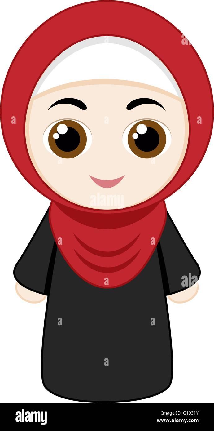 Il video racconta la quotidianità di una ragazza musulmana nella. Cartoon Girl Hijab Immagini E Fotos Stock Alamy