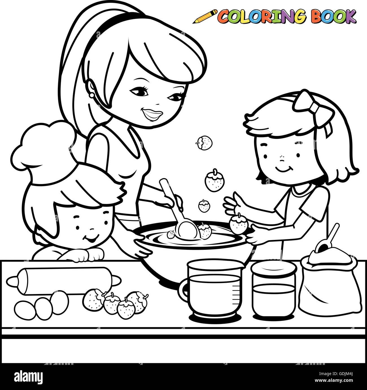 Cucina Da Colorare   Disegni Cucina Da Stampare Come Disegnare Ladybug