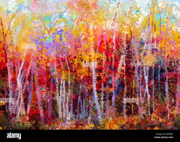 Abstract Landscape Painting Tree