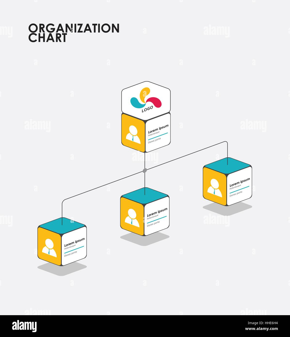 hight resolution of organigramma infographics con tree il diagramma di flusso illustrazione vettoriale