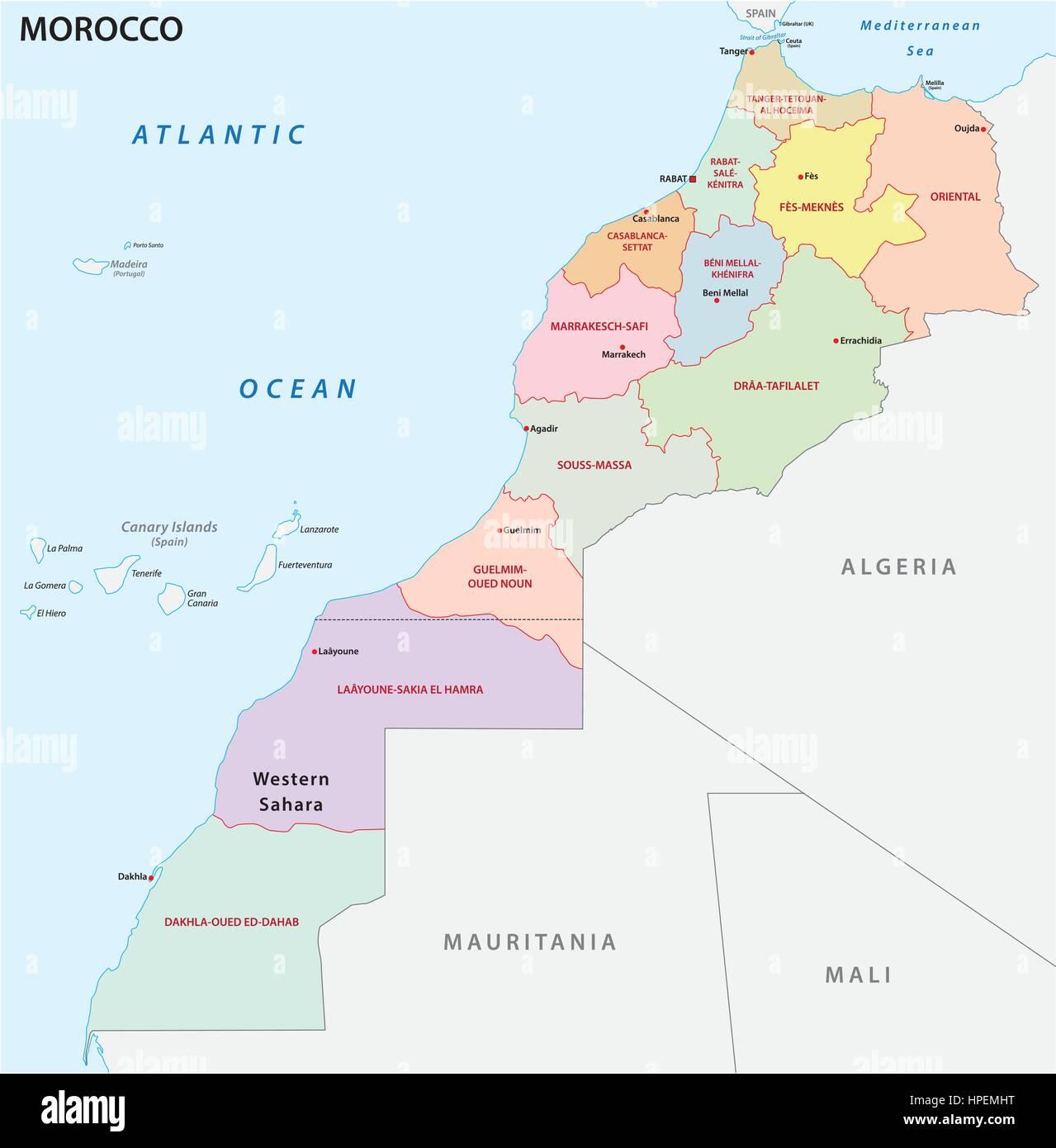 Cartina Geografica Fisica Del Marocco.Mappa Di Marocco