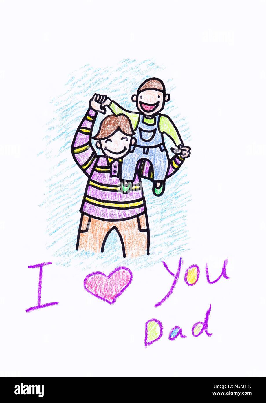 Disegno Per Bambini Gay Festa Del Papà Amazonit