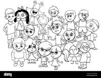 People Characters Coloring Book Immagini & People ...