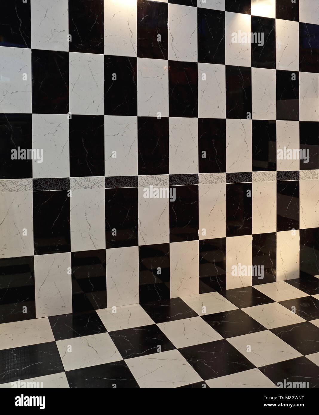 cheap interesting piastrelle a scacchi a pavimento e muro prospettiva with pavimenti a scacchi