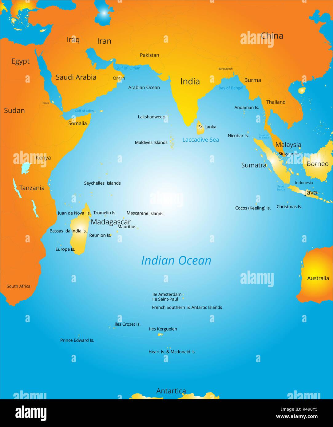 Ios Cartina Geografica.Oceano Indiano Cartina Geografica