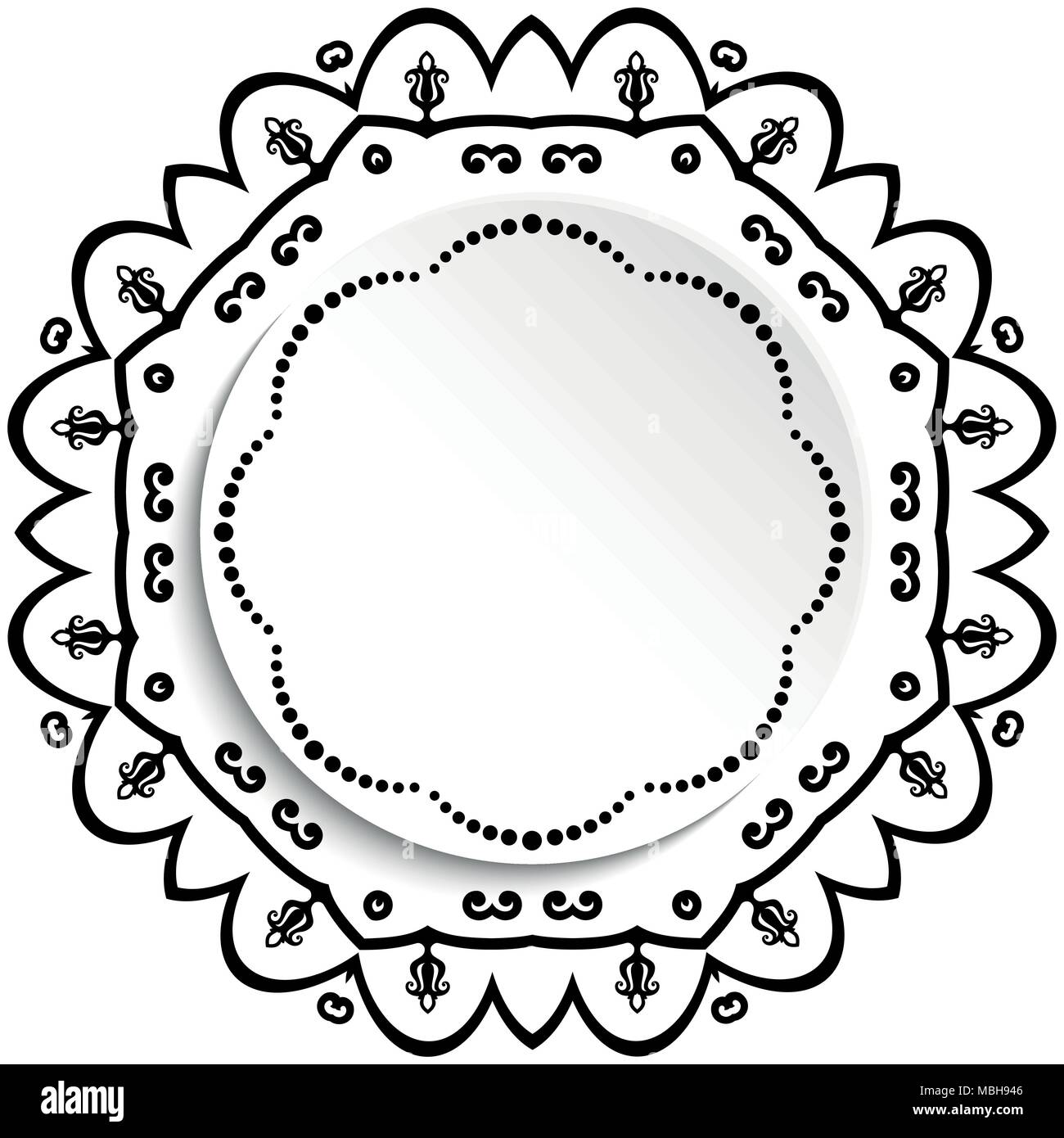 round vector frame with