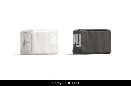 Get free money towards your purchases with creative market credits. Blank Black And White Canvas Cosmetic Bag Mockup Half Turned View Stock Photo Alamy