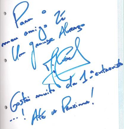 Autografo Mickael Carreira