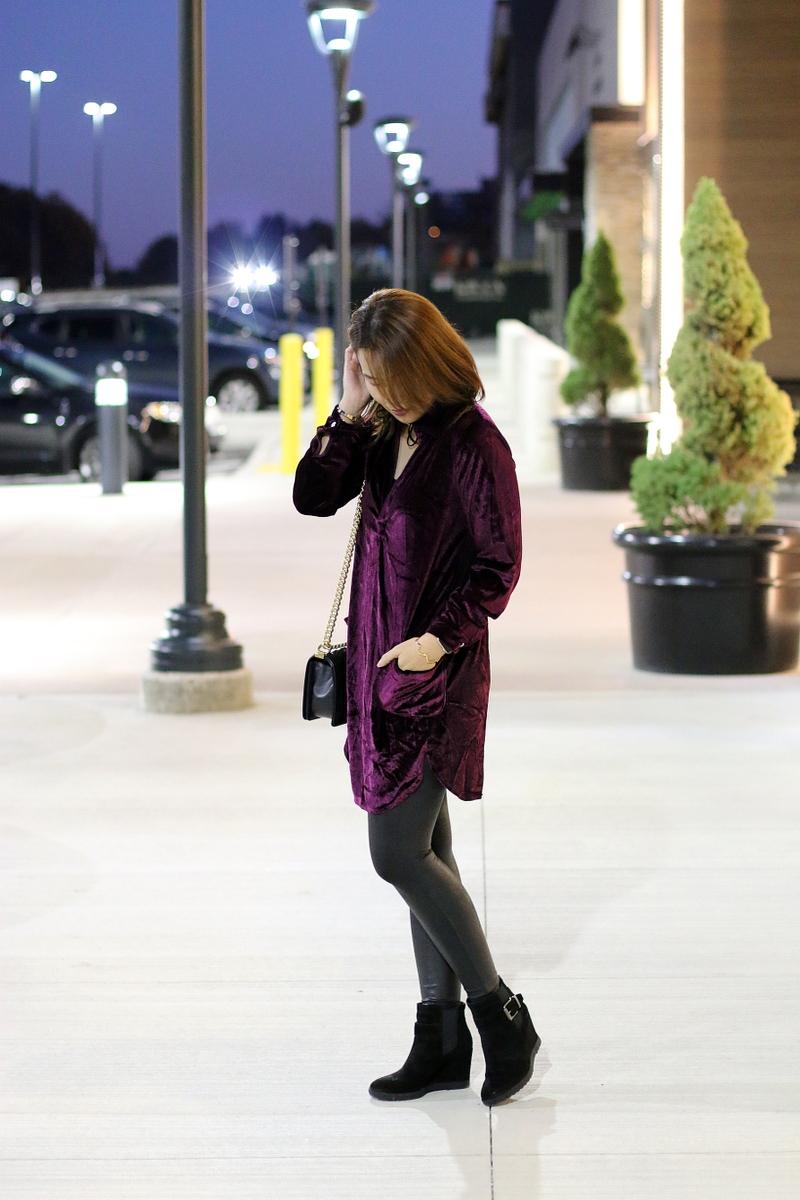 velvet-dress-chanel-boy-bag-faux-leather-leggings-3