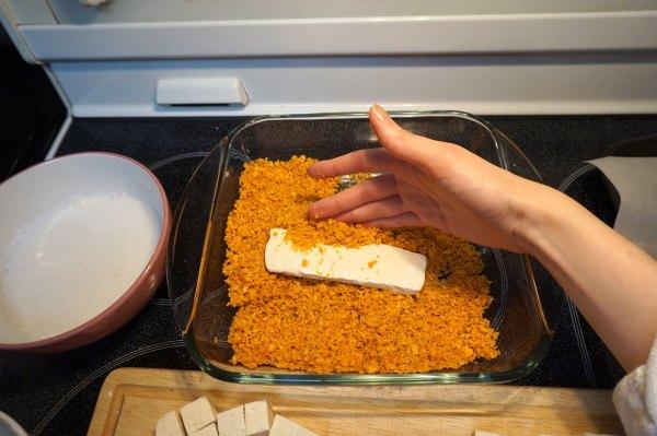 Tofu in Dorito Crumbs | thelittleredspoon.com