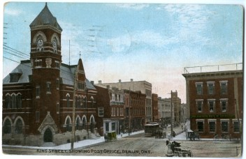 King Street Showing Post Office in Berlin, Ontario (Kitchener) (front)