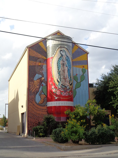 Giant Virgin Mary Candle, Guadalupe Cultural Arts Center, San Antonio TX
