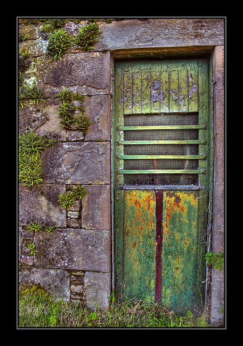 Green Door Part of old farm buildings at the Barns of