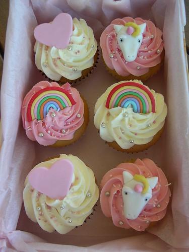 Unicorn rainbow heart cupcakes  Flickr  Photo Sharing