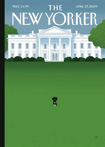 The Obama Dog Bo  New Yorker Cover by Bob Staake  Flickr  Photo Sharing