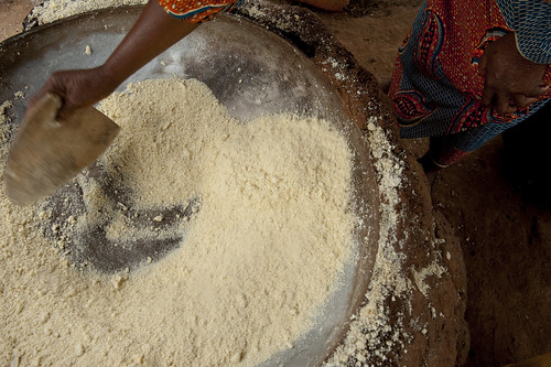 Gari also known as cassava flour Felicienne Soton is
