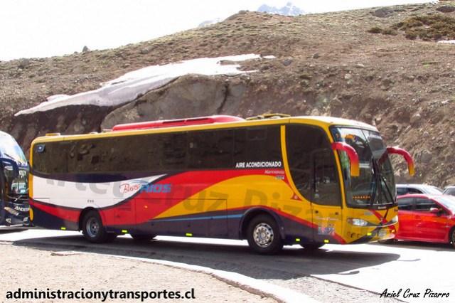 Buses Ríos | Paso Los Libertadores | Marcopolo Viaggio 1050 - Scania / XF9409