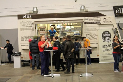 Food stand at MCM Comic Con Belgium