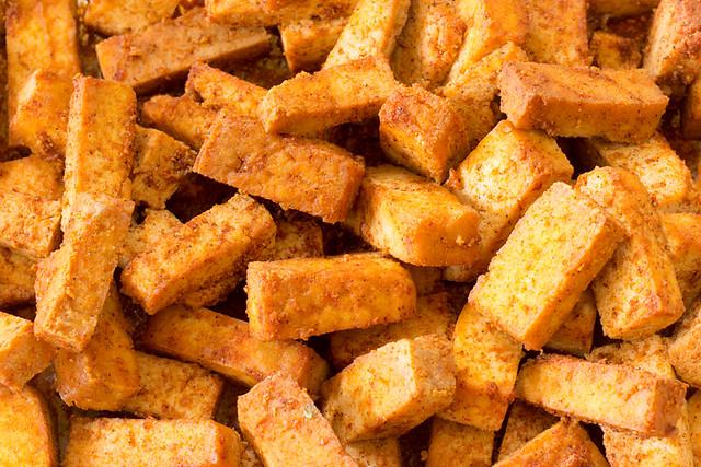 Tofu al pimentón.