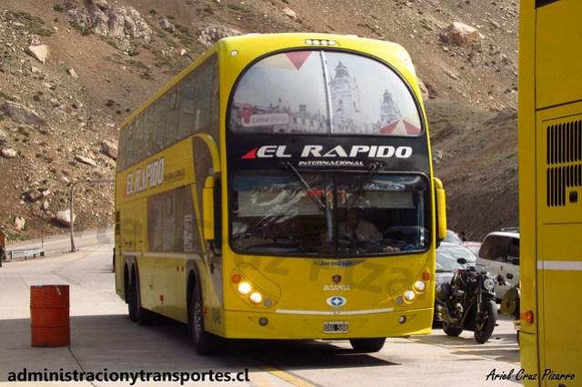 El Rápido Internacional | Paso Los Libertadores | Metalsur Starbus 2 - Scania / OXG584 - N° 7049