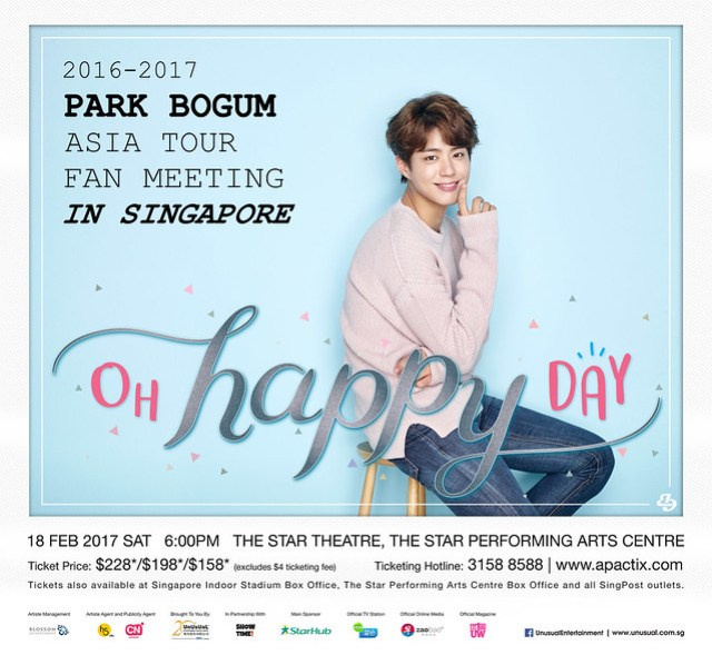 Park Bogum Asia Tour Fan Meeting in Singapore