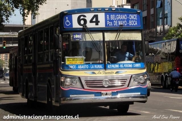 Buenos Aires 64 | Vuelta de Rocha | La Favorita GR - Mercedes Benz / JOP995