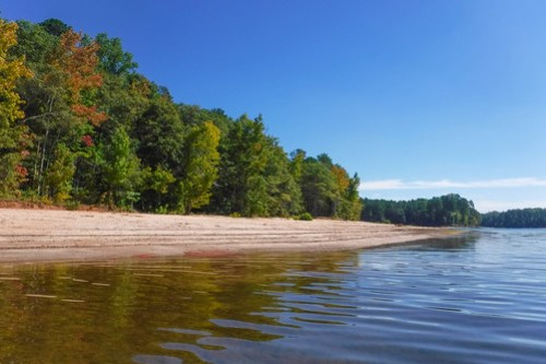 Paddling to Ghost Island in Lake Hartwell-67