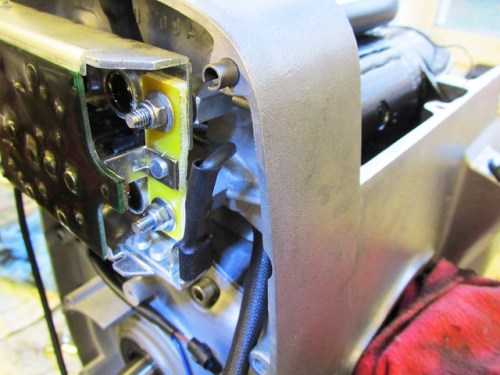 """Right Side Diode Board """"Red"""" Wire Routed To Avoid Touching Edge of Timing Chest Cover"""
