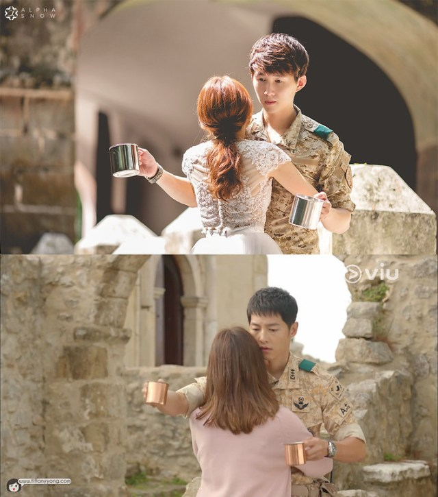 Tiffany Yong Descendants of the Sun Ep12 Coffee Hug