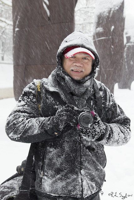Photographer in Snow Storm